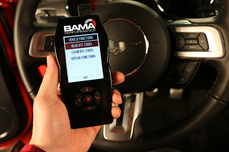 How do I check/clear engine codes (DTC's) with my Bama/SCT