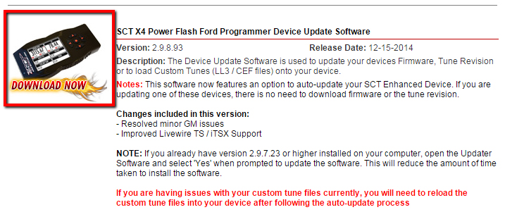How do I update the firmware on my Bama/SCT X4 SF4 – BAMA Performance